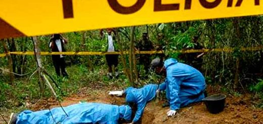 Fosa común donde hallaron a las víctimas de la 'Masacre de Barlovento' | Foto: Archivo