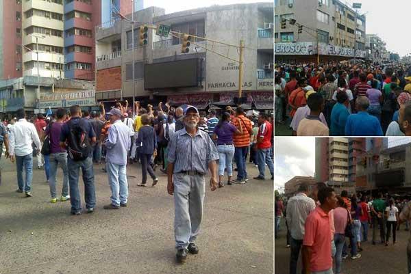 Reportan protestas por falta de efectivo en distintas partes de Venezuela #16Dic   Foto: Twitter