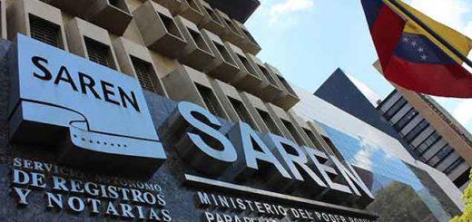 Servicio Autónomo de Registros y Notarías (Saren)  |Foto: cortesía