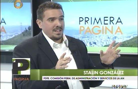 Diputado Stalin González | Foto: Captura de video