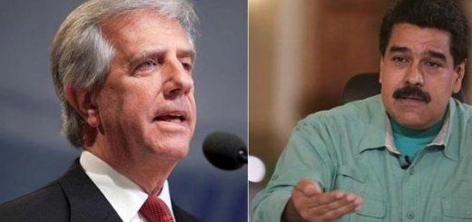 Tabaré Vásquez y Nicolás Maduro