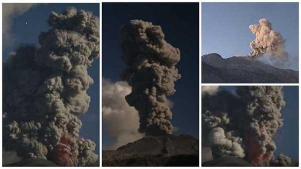 Volcán Sabancaya, en el sur de Perú | Foto: Diario Correo