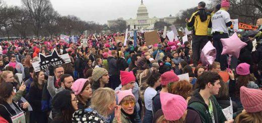 Este sábado se realiza la masiva protesta de mujeres contra Donald Trump  Foto: AFP