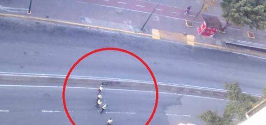Cierran accesos a Plaza Venezuela, Caracas |Foto Twitter