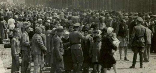 Liberación de las víctimas de los campos de concentración en Auschwitz