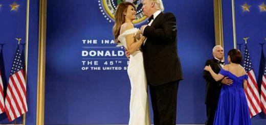 Primer baile presidencial de Donald Trump junto a su esposa  Foto: Cordon Press