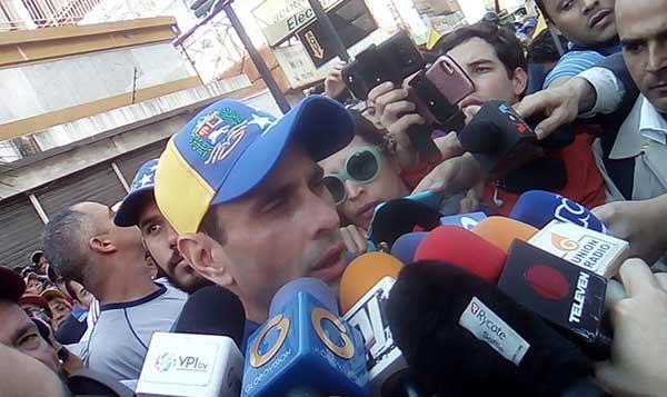 Gobernador del estado Miranda, Henrique Capriles   Foto: @UnidadVenezuela