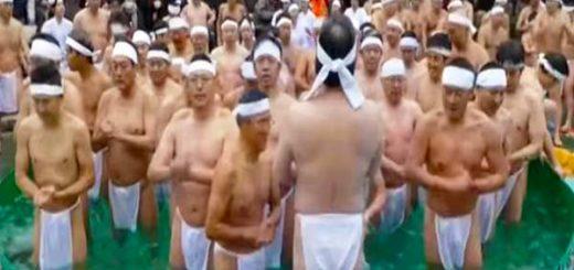 Japoneses realizan ritual para  iniciar el año nuevo  Captura de video