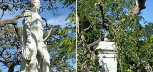 Se cae estatua de Simón Bolívar en Colombia |Foto: Radio Caracol