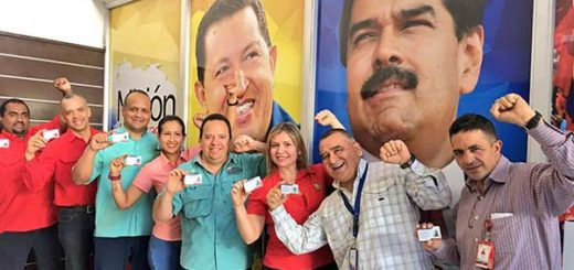 Trabajadores del Ministerio de Alimentación se sumaron a jornada del Carnet de la Patria |Foto: Twitter