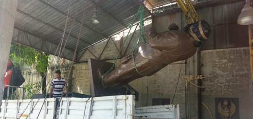 Hoy instalan estatua de Chávez en Vargas |Foto: Twitter