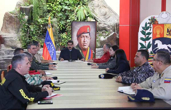 "Maduro juramenta a ""Comando Antigolpe"" antes de partir a Nicaragua | Foto: @DPresidencia"