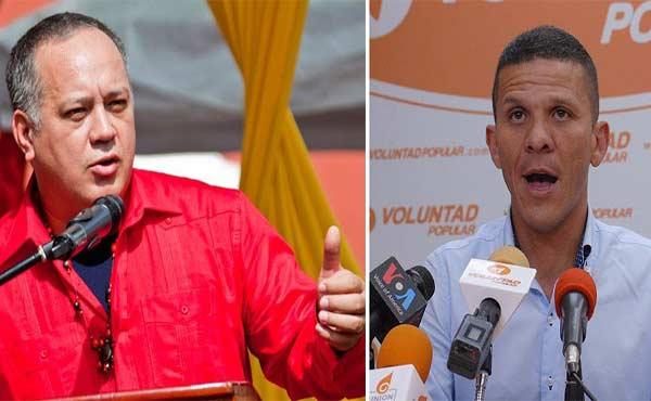 Diosdado Cabello arremete contra Gilber Caro, diputado y dirigente de VP |Composición: Notitotal