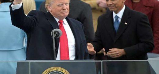 Donald Trump se juramentó presidente de Estados Unidos  Foto: AFP