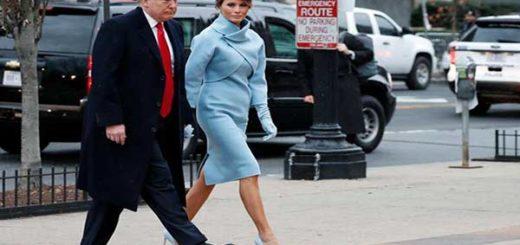 Donald Trump se dirige a la Iglesia episcopal de Washington antes de la investidura  Foto: AP