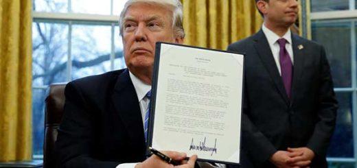 Donald Trump retira este lunes a EEUU del tratado transpacífico |Foto: Reuters