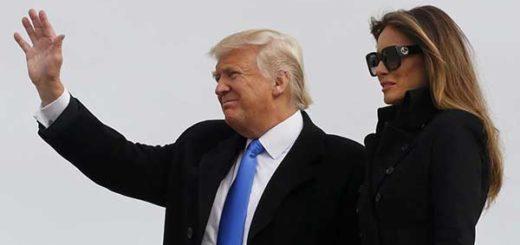Donald Trump arriba a Washington, un día antes de su investidura | Foto: Reuters