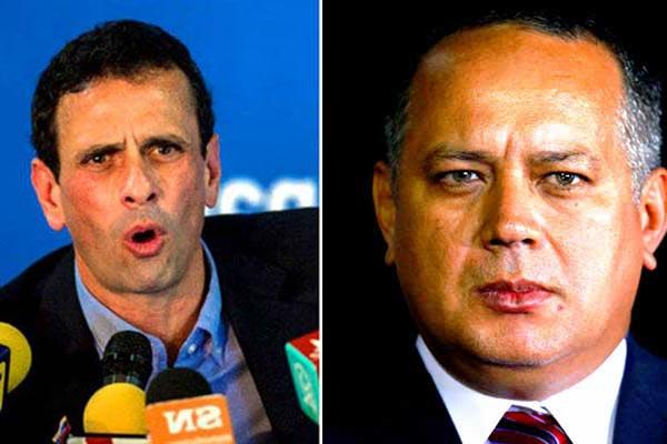 Henrique Capriles / Diosdado Cabello | Fotomontaje Notitotal