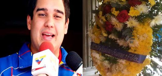 Nicolás Maduro Guerra envió corona a funeral de Arnaldo Albornoz