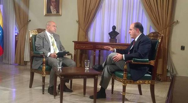 Julio Borges, Presidente de la AN, en entrevista con Vladimir Villegas | Foto: Twitter