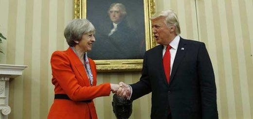 Theresa May, primera líder extranjera recibida por Trump en la Casa Blanca | Foto: EFE