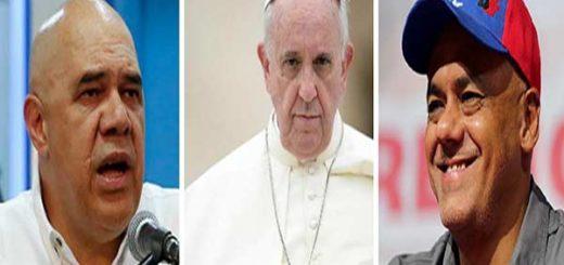 Representantes de diálogo podría conversar con el Papa |Composición: Notitotal