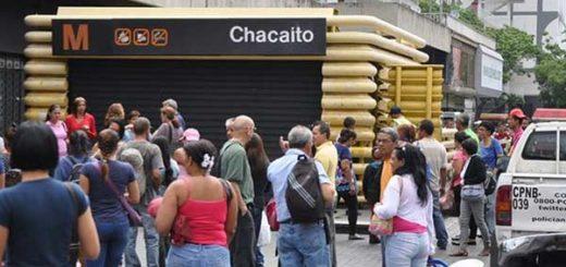 Metro de Caracas cierra varias estaciones a propósito de la marcha de oposición |Foto: Twitter