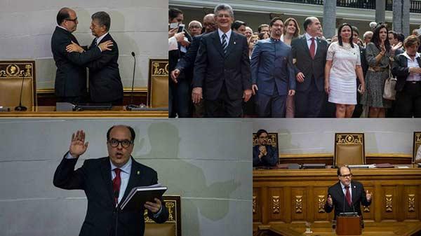 Nueva directiva de la Asamblea Nacional  Foto: EFE