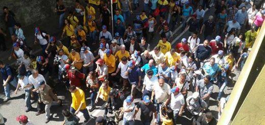 Marcha de la oposición, Av. Libertador, 23-E |Foto Twitter