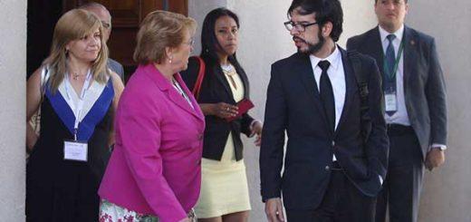 Miguel Pizarro se reunió con la presidenta de Chile, Michelle Bachelet | Foto: @lugoalexa