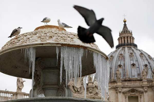 Ola de frío en el Vaticano |Foto: Reuters