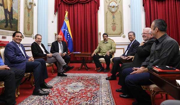 Maduro calificó de positiva reunión con acompañantes del diálogo   Foto: @DPresidencia