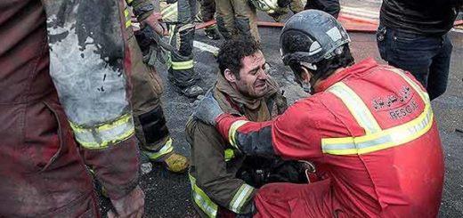 Decenas de bomberos muertos tras colapso de un edificio en Teherán | Foto: Reuters