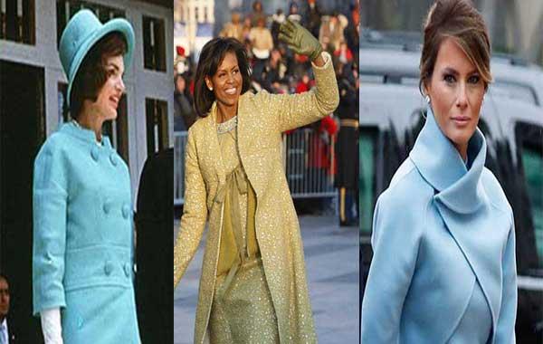 Jackie Kennedy / Michelle Obama / Melania Trump