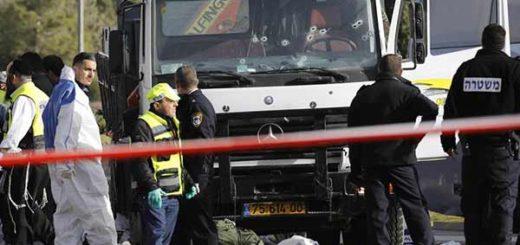 Palestino atropelló a grupo de soldados con un camión en Jerusalén | EFE