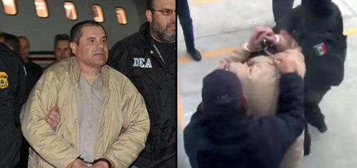 Chapo Guzman siendo extraditado a EE.UU. | Foto: Reuter/ captura de video