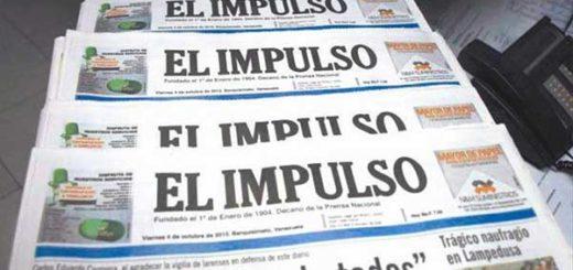 Marcharán para exigir papel periódico para El Impulso | Foto: El Impulso