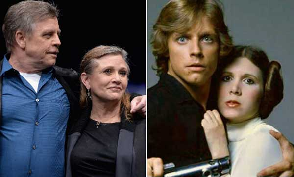 Mark Hamill y Carrie Fisher / Luke Skywalker y la princesa Leia | Foto: Archivo