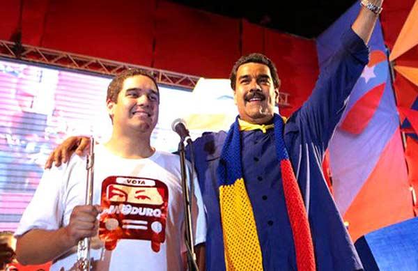 Nicolás Maduro y su hijo, Nicolás Ernesto Maduro