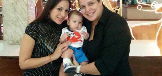 Giniveth Soto (fallecida) y Migdelis Miranda, con su hijo | Foto: Twitter