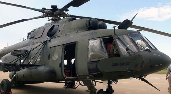 Helicóptero militar desaparecido   Referencial