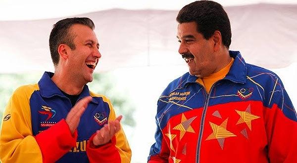 Tareck El Aissami y Nicolás Maduro   Foto: Archivo
