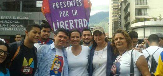 María Corina Machado presente en la marcha estudiantil, 12-F |Foto: Prensa María Corina