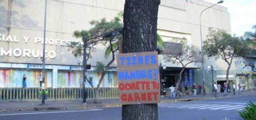 Protestas contra el Carnet de la patria | Foto: @ValOrganizada