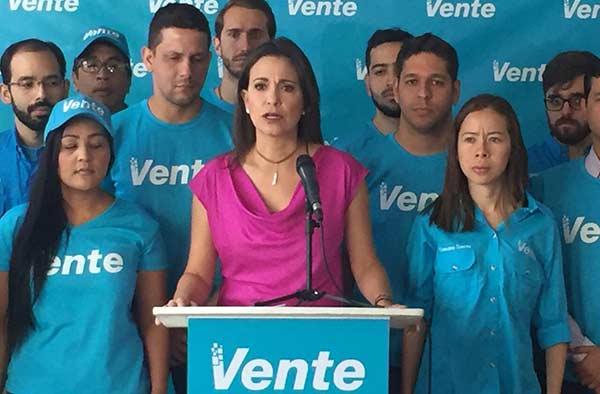 María Corina Machado, coordinadora nacional de Vente Venezuela | Foto: Twitter