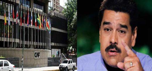 Maduro pretende obtener crédito exprés de la CAF sin autorización de la AN | Composición