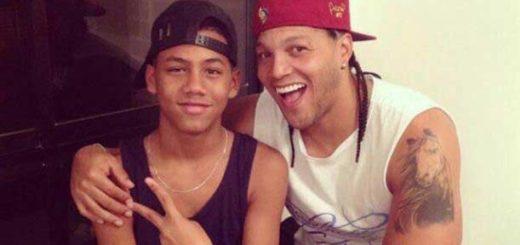 Juan Manaure junto a su hijo   Foto Twitter