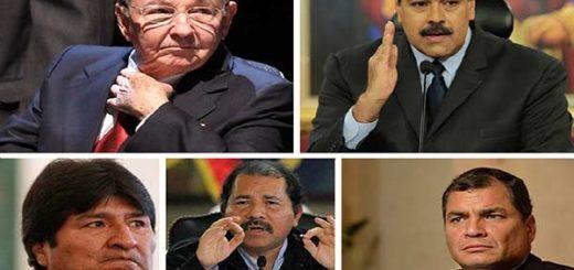 Dictadores de América Latina, según el politólo Sánchez Berzaín |Composición: Notitotal