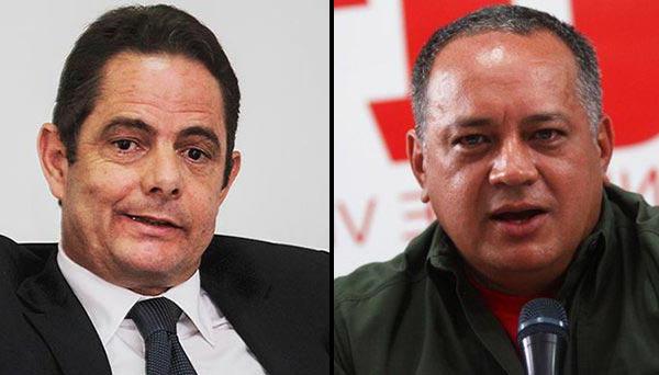 El vicepresidente de Colombiafue insultado por el diputado chavista Diosdado Cabello