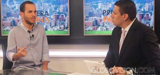 Hasler Iglesias habla sobre la marcha de este marte 7-F |Foto: Globovisión